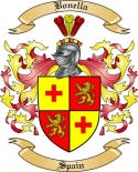 Bonella Family Crest from Spain2