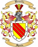 Bonella Family Crest from Spain