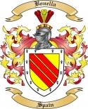 Bonella Family Crest from Spain