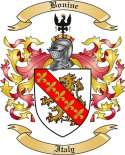 Bonine Family Crest from Italy