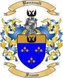 Bonnault Family Crest from France