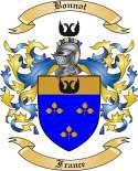 Bonnot Family Crest from France