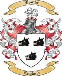 Boothe Family Crest from England