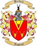 Bordner Family Crest from England