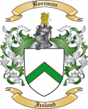Boreman Family Crest from Ireland
