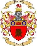 Borrows Family Crest from Ireland