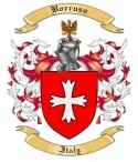 Borruso Family Crest from Italy