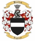 Bostick Family Crest from England