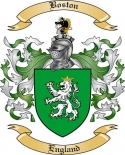 Boston Family Crest from England