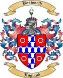 Bosworth Family Crest from England