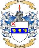 Bott Family Crest from England