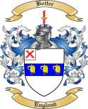 Botter Family Crest from England