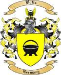 Botts Family Crest from Germany