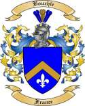 Bouchie Family Crest from France