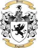 Boud Family Crest from England