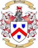 Boulland Family Crest from France