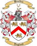 Boulten Family Crest from England