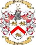 Boultoun Family Crest from England
