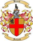 Bourk Family Crest from Ireland
