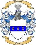Bourni Family Crest from France