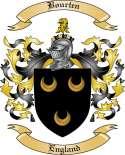 Bourten Family Crest from England2