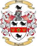 Boush Family Crest from England