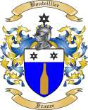 Bouteillier Family Crest from France