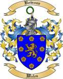 Bowane Family Crest from Wales