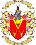 Bowder Family Crest from England