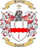 Bowdich Family Crest from England