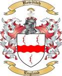 Bowditch Family Crest from England