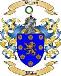 Bowen Family Crest from Wales