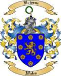 Bowene Family Crest from Wales