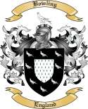 Bowling Family Crest from England