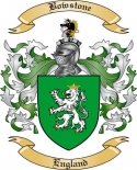 Bowstone Family Crest from England