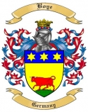 Boye Family Crest from Germany