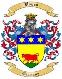 Boyen Family Crest from Germany