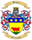 Boyer Family Crest from Germany