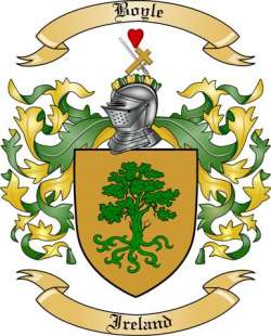 Boyle Family Crest From Ireland By The Tree Maker