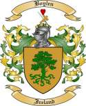 Boylen Family Crest from Ireland