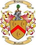 Boyman Family Crest from Scotland