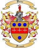 Boza Family Crest from France