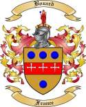 Bozard Family Crest from France