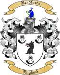 Bradforde Family Crest from England