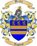 Bradie Family Crest from England