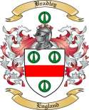 Bradley Family Crest from England