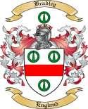 Bradley Family Crest from England