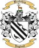 Bradshay Family Crest from England