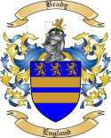 Brady Family Crest from England