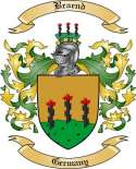 Braend Family Crest from Germany
